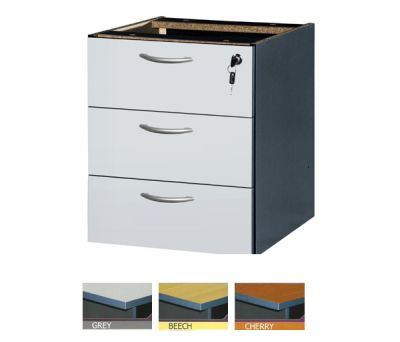 AH 3- FIXED PEDESTAL WITH 3 DRAWERS