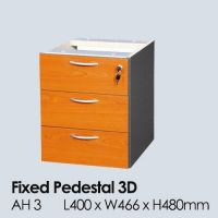 AH 3C - 3 DRAWERS FIXED PEDESTAL