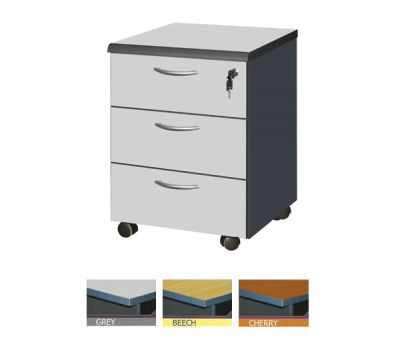 RE F33+TOP - 3 DRAWERS MOBILE PEDESTAL