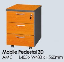 AM 3C - 3 DRAWERS MOBILE PEDESTAL