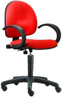 BC 710L-Typist chair with Gas Lift and Armrest
