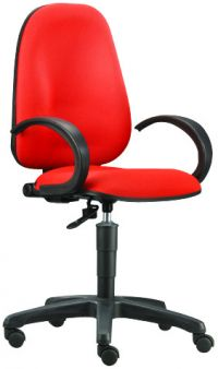 BC 711H-Typist chair with Gas Lift and Armrest