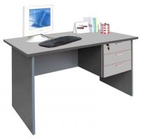 EA 48-28G - 4' Writing Table with Drawers(Grey)