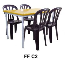 Set FF C2 - 1 Cafe Table + 4 Plastic Chair