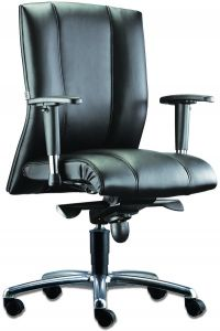 LT 132-Cancer Leather Mediumback Chair