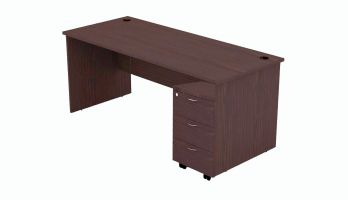 VT 180W + VM 3W - 6' OFFICE TABLE + MOBILE PEDESTAL